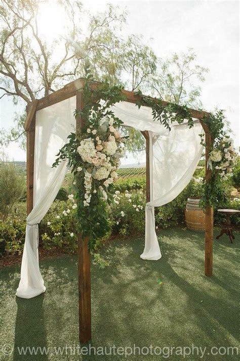 Falkner Winery Rustic Wedding Arch Outdoor Weddings In