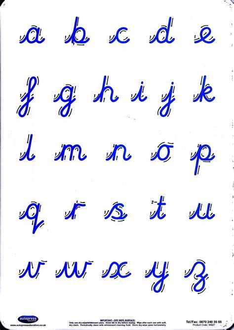 cursive letter formation practice board partners