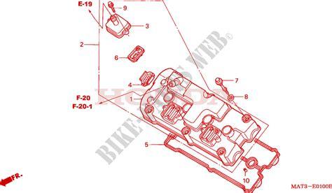 cylinder head cover for honda cbr 1100 super blackbird 1998 honda motorcycles atvs genuine