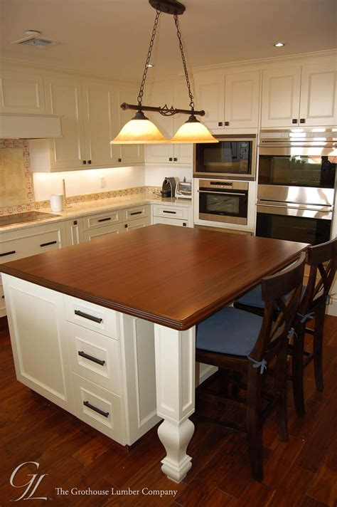 wood tops for kitchen islands custom mahogany wood countertop in miami florida