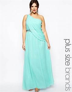 robe longue cocktail turquoise grande taille effet drape With robe longue grande taille pour mariage