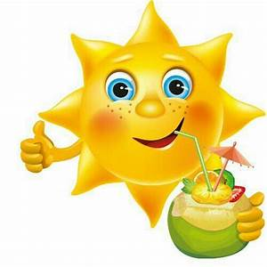 ☀️ Sun, clipart, drink, cute Sunny cliparts Pinterest