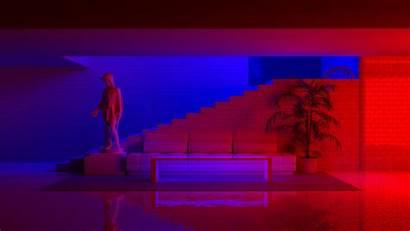 Neon Eros Statue Basement Blender Apex Lights
