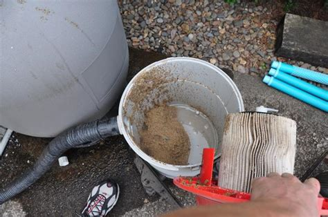 How To Change Sand In Pool Filter Diy