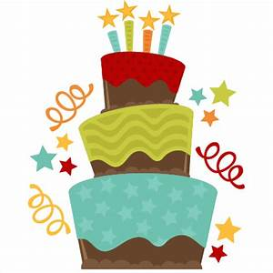 Chocolate Birthday Cake SVG cut file birthday cake svg ...