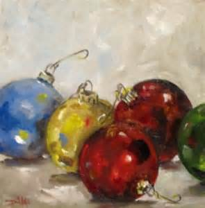 painting of the day daily oil paintings by delilah christmas ornaments sold