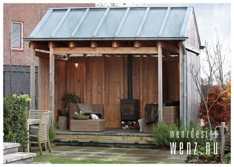 tuinhuis met open haard buiten genieten van tuinhuis met openhaard wenzdesign