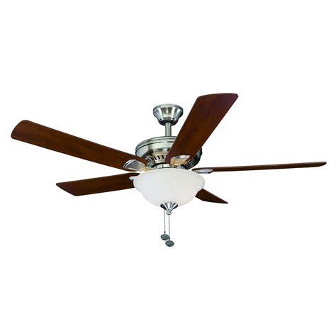 hton bay fan extension rod hton bay 51459 cbell ii 52 in brushed nickel