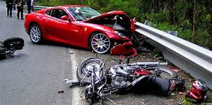 Ferrari 599 driver crashes into motorbike riders and keeps ...