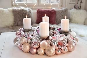 Adventskranz Selbst Basteln : adventskranz aus weihnachtskugeln selber machen ~ Orissabook.com Haus und Dekorationen