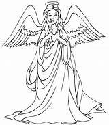 Coloring Angels Pages Angel Results sketch template