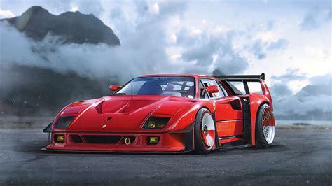 Ferrari F40 Supercar Hd Wallpaper