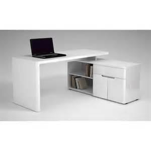 Bureau D Angle Blanc Laque Design by Bureau D Angle