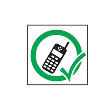 sign in mobile phone mobile phone sign h180mm x w180mm self adhesive vinyl