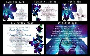 attractive orchid wedding invitations orchid invitation With wedding invitations blue orchids