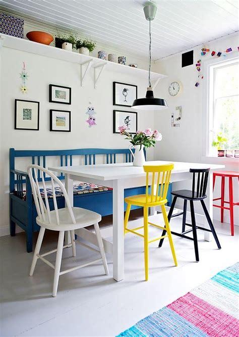 kitchen table of color press cadeiras coloridas para a mesa de jantar espa 231 o casa 9602