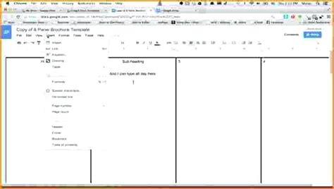 docs booklet template book template docs price list template sheets docs scrapbook template