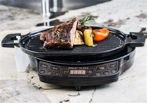 nuwave precision induction cooktop pic grill