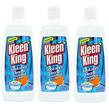 amazoncom kleen king stainless steel cookware cleaner  copper cleaner  oz pack