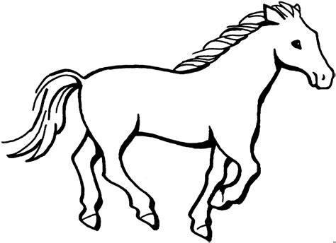 gallopierendes pferd ausmalbild malvorlage tiere