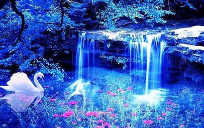 Waterfall Screensavers Wallpapers Flowers 3d Swan Wallpaperup