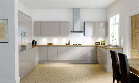 handleless cashmere gloss kitchen image  wren kitchen