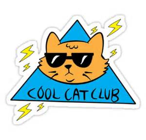 cat club quot cool cat club quot stickers by murphy nemsik redbubble