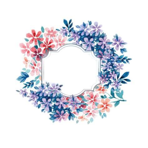 Pin en Watercolor flowers corona de flores png