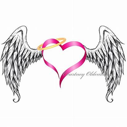 Wings Clipart Heart Angel Clipartmag