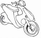 Scooter Coloring Pages sketch template