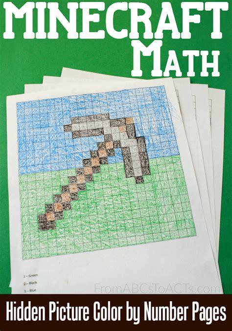 minecraft hidden picture math printables  homeschool deals