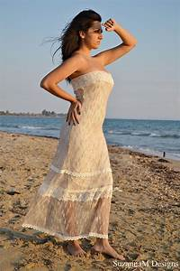 ivory lace and net bohemian wedding dress bridal wedding With ivory beach wedding dresses