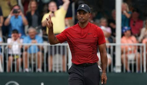 Tiger Woods came up one shot short today, but he's going ...