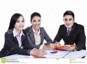 Small Group Of Business People In Meeting Stock Image ...