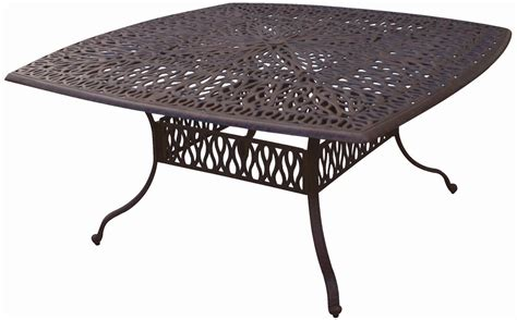patio furniture table dining cast aluminum 64 quot x64 quot square
