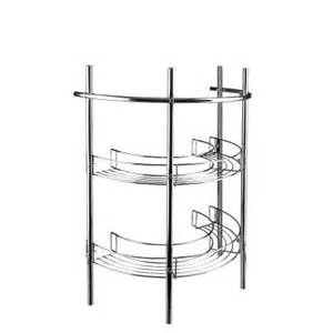 croydex 21 in pedestal storage unit in chrome aj401341yw