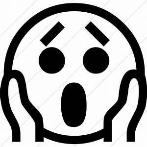 Scared Face Clip Art Black And White | www.imgkid.com ...