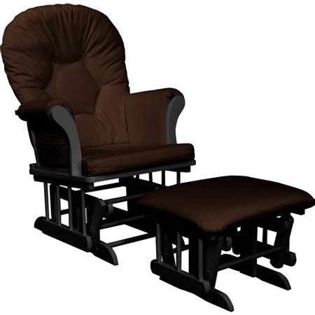 Chocolate Glider And Ottoman by Shermag Dayton Sleigh Glider Rocker And Ottoman Chocolate