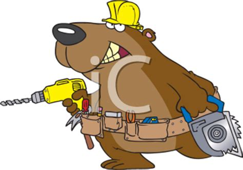 cartoon clipart picture   bear dressed