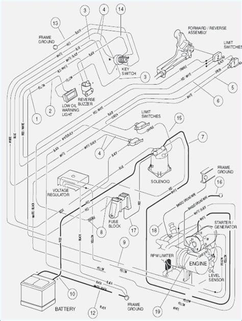 club car precedent gas wiring diagram fasett info