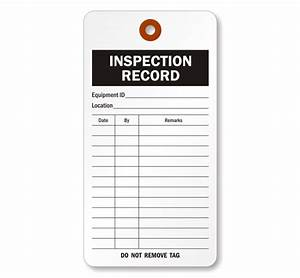 Cardstock inspection record tag sku 5510 c 100 for Fire extinguisher inspection tag template