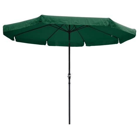 10ft aluminum outdoor patio umbrella w valance crank tilt