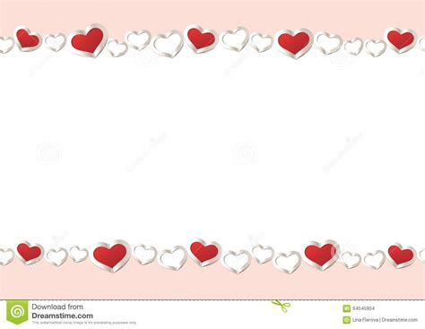 valentines day borders horizontal valentines day background hearts border frame