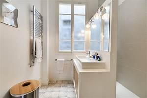 douche a l39italienne et grande vasque rectangulaire With porte de douche coulissante avec tapis de salle de bain grande taille