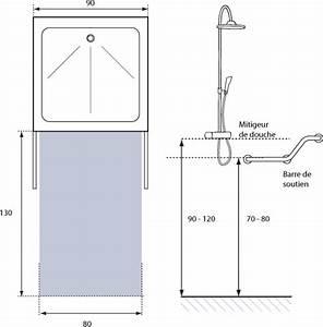 lamenagement de la salle de bains pour une personne a With dimension douche à l italienne sans porte