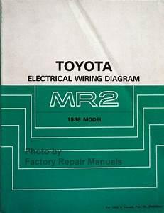 1986 Toyota Mr2 Electrical Wiring Diagrams Original