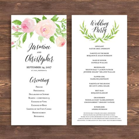 Free Wedding Program Templates Word by Best 25 Wedding Ceremony Program Template Ideas On