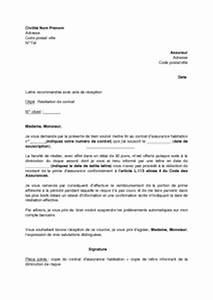 Assurance Auto Non Roulante : lettre de r siliation de contrat d 39 assurance habitation refus de l 39 assureur de diminuer la ~ Gottalentnigeria.com Avis de Voitures
