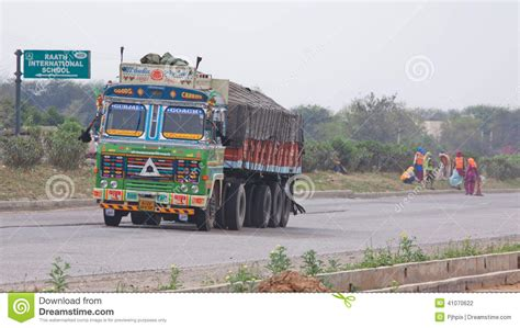 indian trucking india highway truck state delhi rajasthan passing preview