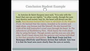 Critical Lens Essay  5 Writing The Conclusion